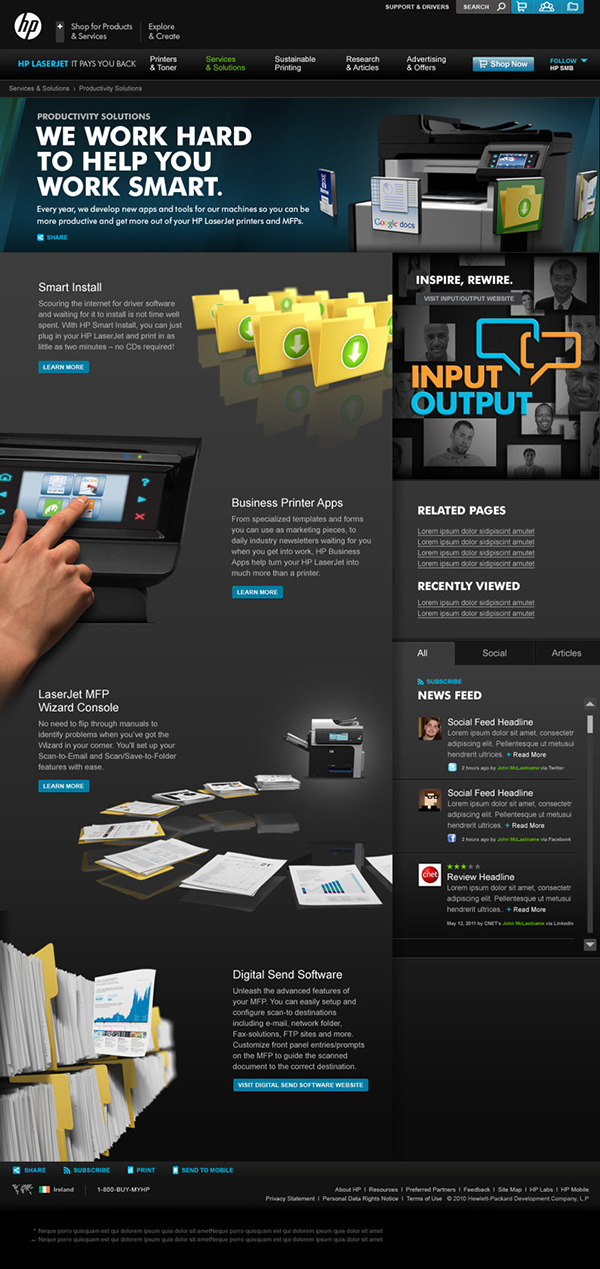 HP Laserjet Hub on Behance