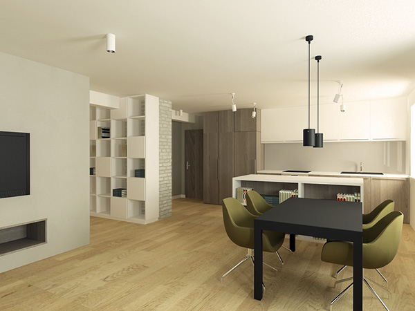 Private apartment pozna poland on behance for Designer apartment krakow