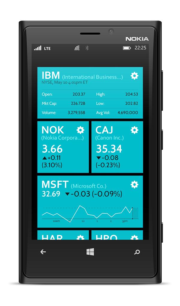 Windows phone 8 tile watchlist on behance for Tile layout app