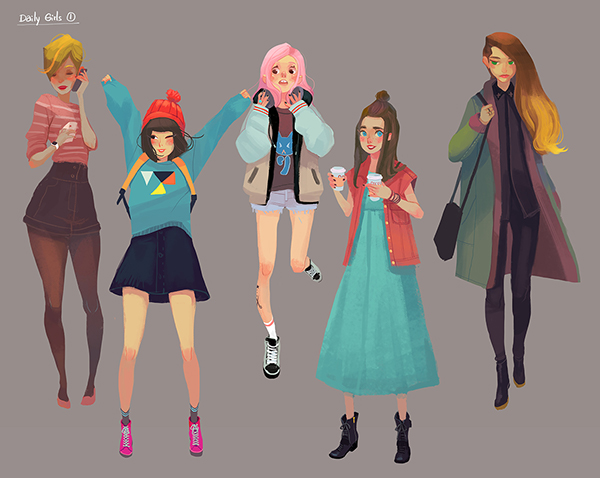 Daily Girls Project by Joysuke W