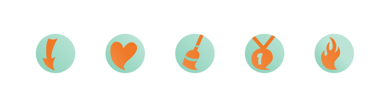 illustrated icons graphic identity graphic style