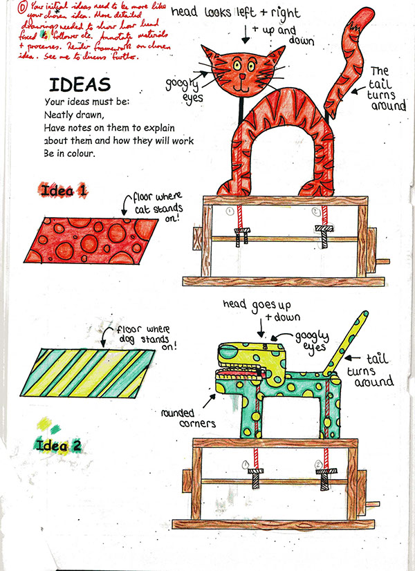 Mechanical toy project year 9 on behance for Simple toy motor project