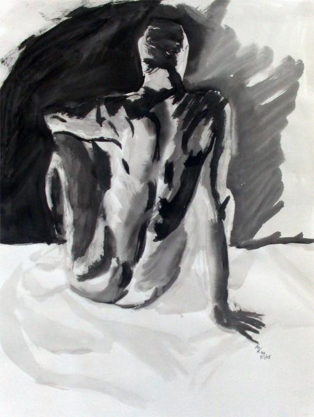 sumi painting on massart portfolios