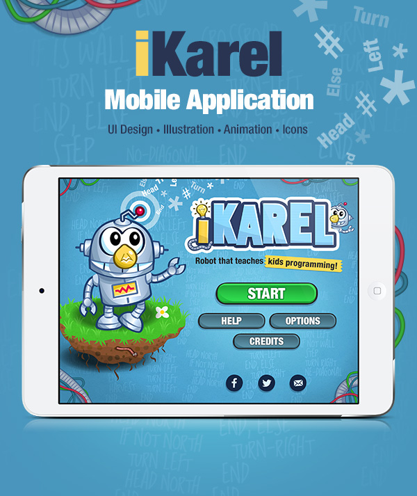 mobile Icon kids children robot