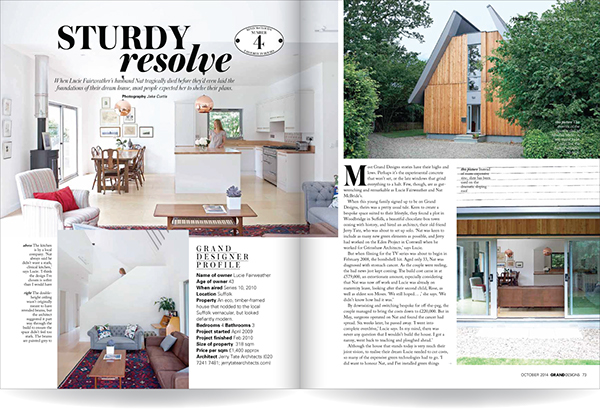 Grand designs magazine house feature layout design on behance for House designs magazine
