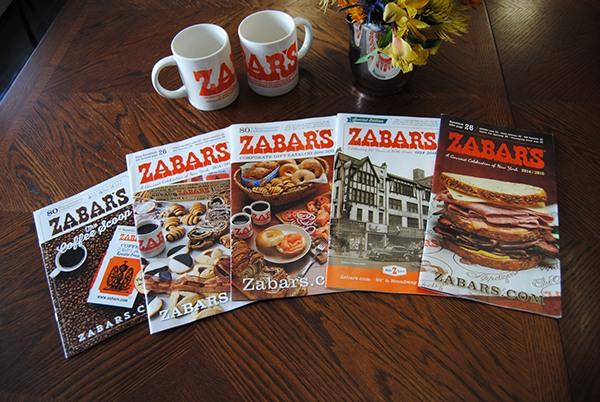 Various Zabar's 80th Anniversary Catalog Designs