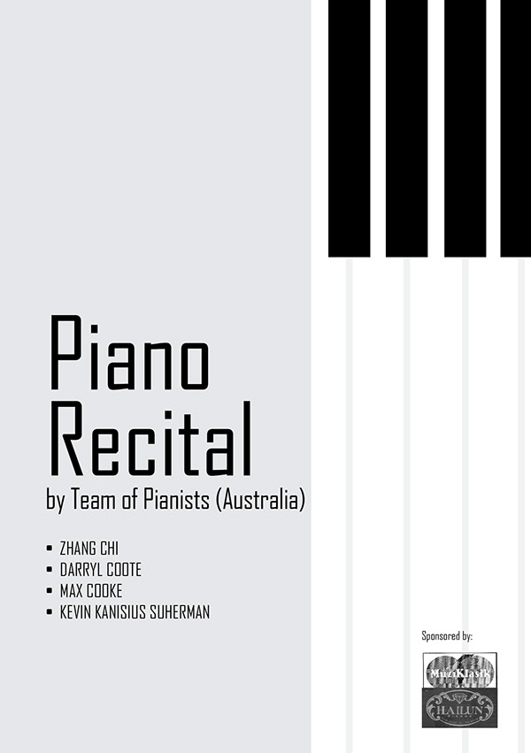 piano recital campaign design on pantone canvas gallery
