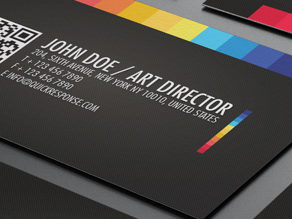 Quick response business card on behance a clean and high detailed textured background business card for your business surprised them with this card with integration of quick response code qr reheart Choice Image