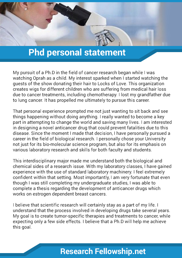 medical research personal statement