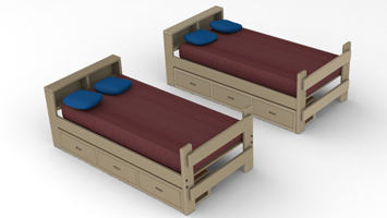 Twin Twin Bunk Bed 2 X 6 Ponderosa Pine On Behance