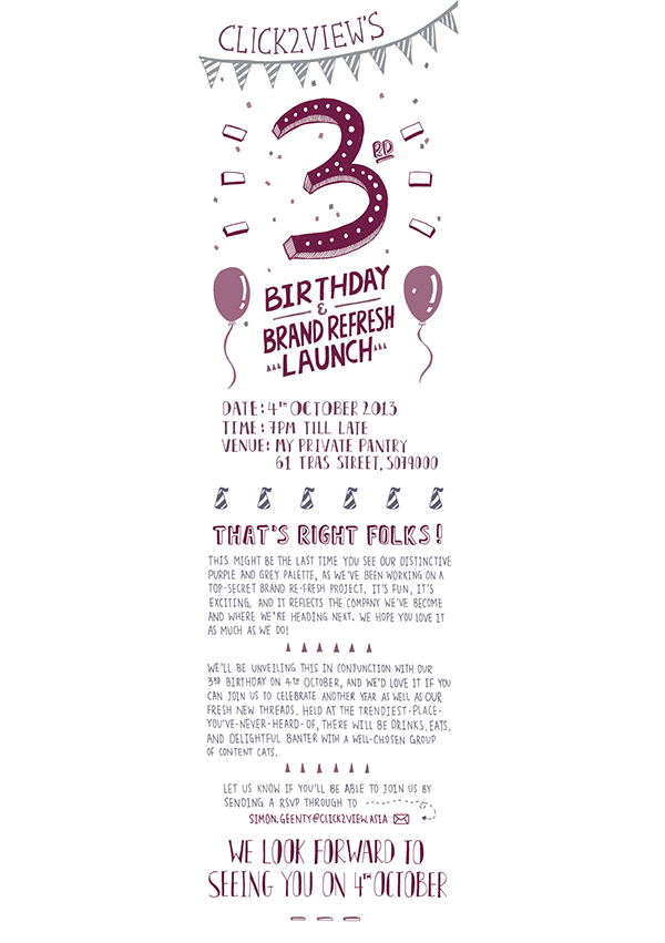 e invitation for birthday and brand launch on behance