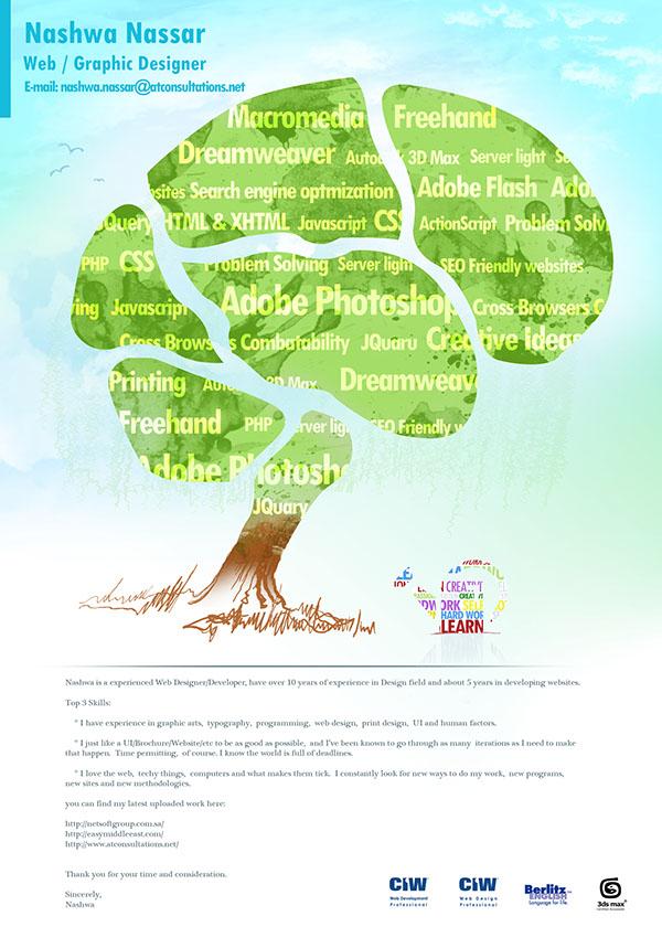 Creative resume coverletter on Behance