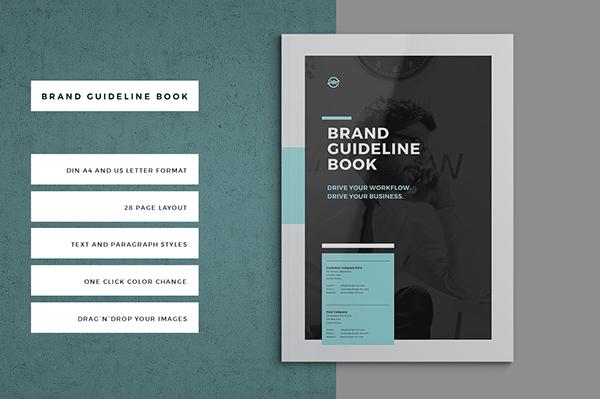 brand guideline book on behance