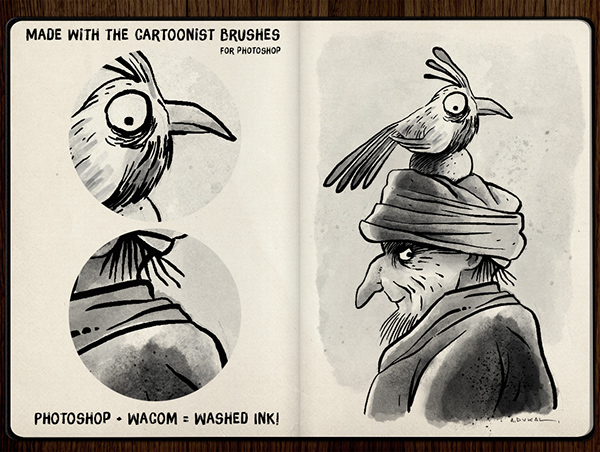 The Cartoonist Brushes on Behance
