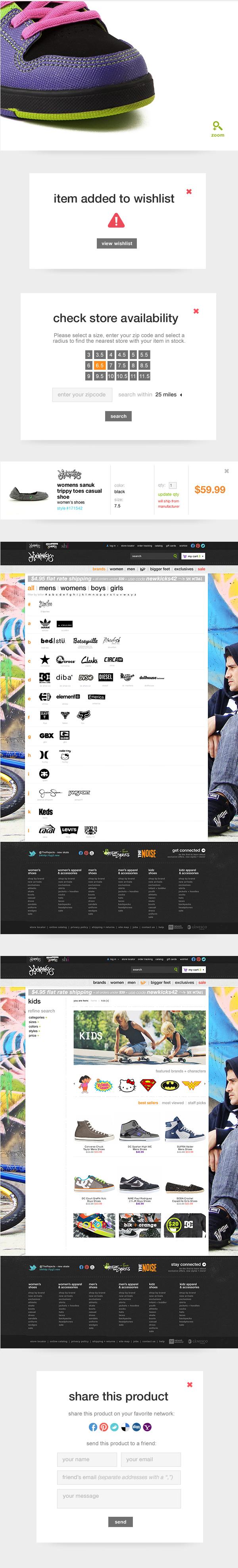 Ecommerce mobile webstore Retail footwear journeys store re-design