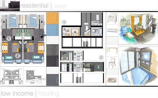 Interior design portfolio residential design on behance - Interior design portfolio samples ...