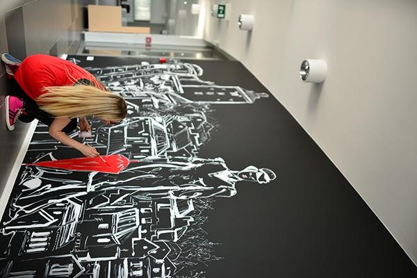 Restaurant mural design on Behance