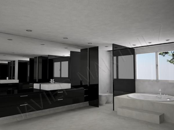 Diseno De Baños Para Fincas: de baños y mobiliario en lacado con encimeras de silestone para