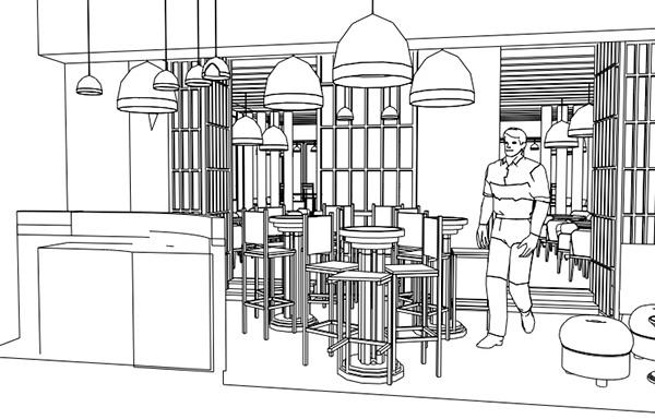 Restaurant And Bar Design Tree House On Behance