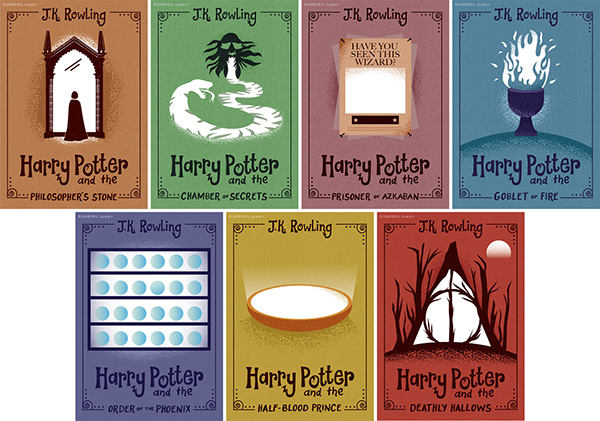 Harry Potter Book Cover Design ~ Harry potter solar activated covers on behance