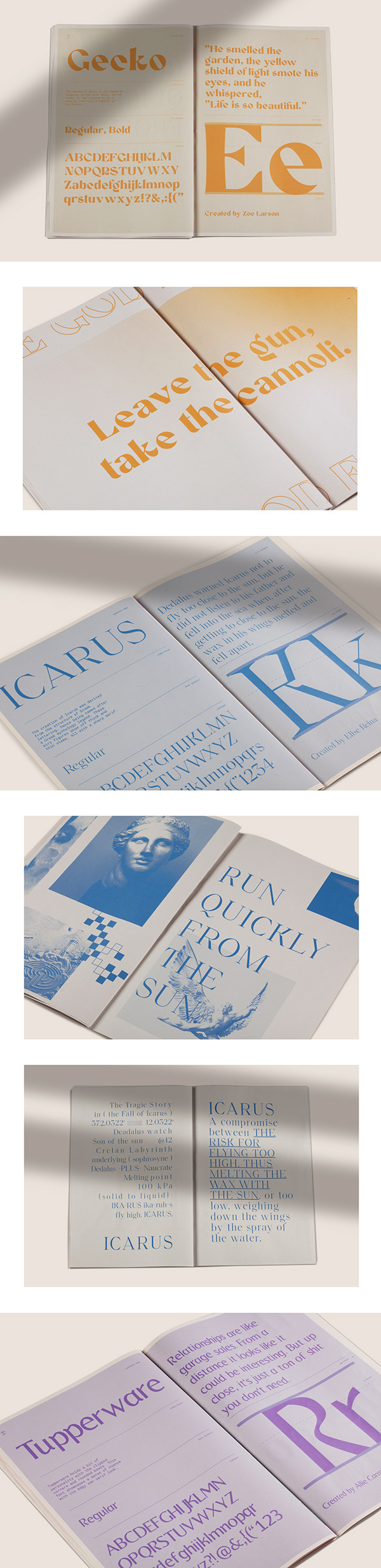 Typographic Universe - Font Specimen Promo