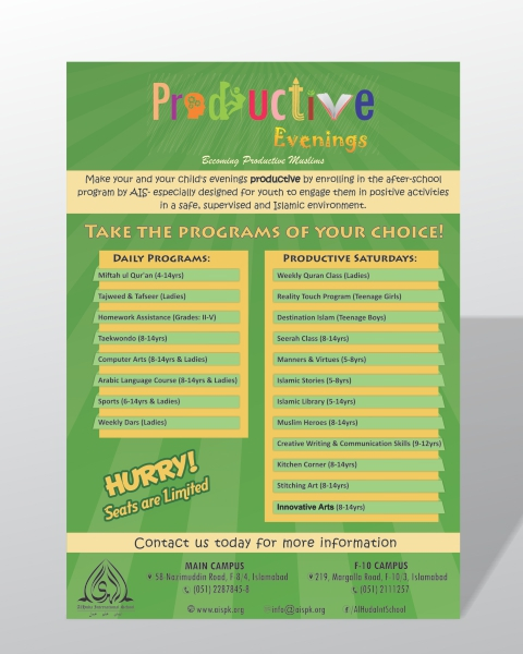 Flyer: Kids courses on Behance