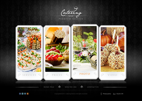 The Catering Premium Service HTML5 Template 300111621 on Behance