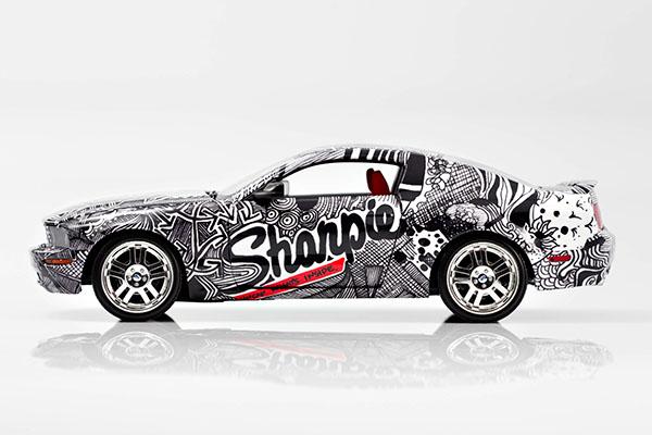Sharpie Mustang Car Wrap On Behance