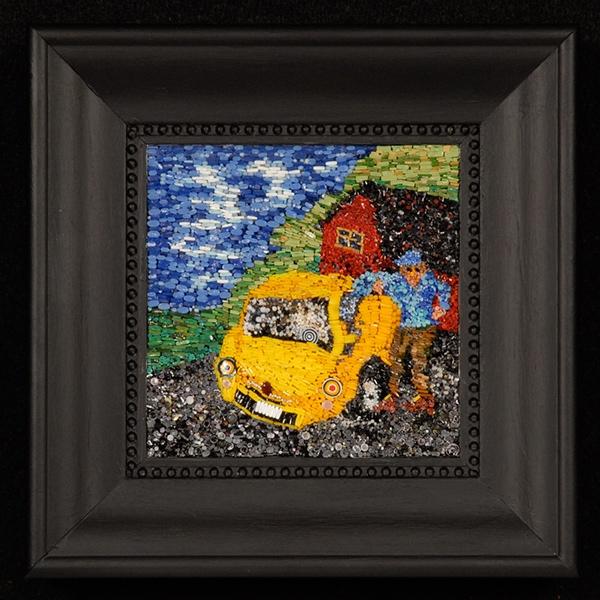 micro mosaic Fine Art Mosaic Mixed Media Micro Traditional Mosaic Technique Contemporary Micro Mosaic