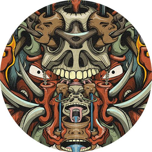 Image may contain: skull, drawing and cartoon