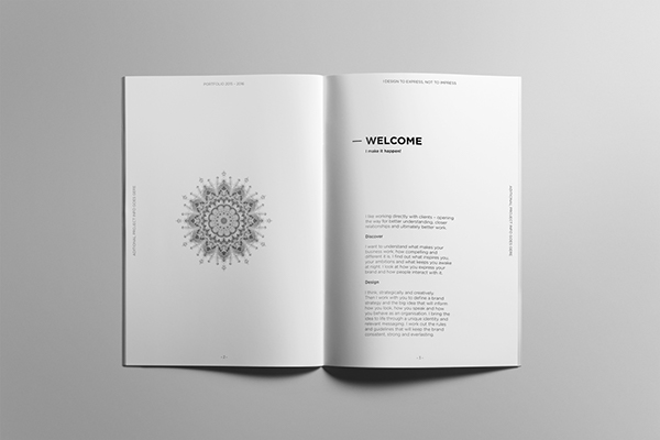 Minimalist Book Cover Template : Minimalist portfolio book on student show