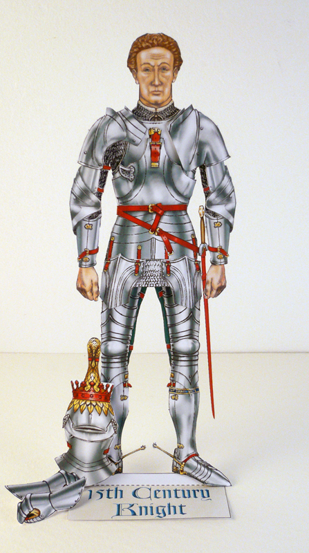 Knight kit with helmet removed