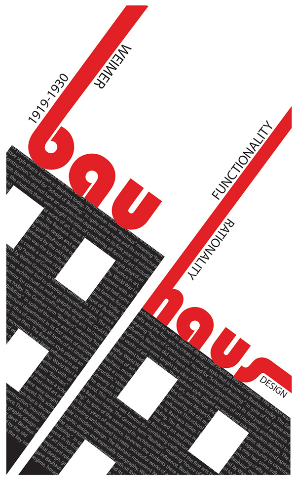 bauhaus movement poster on behance. Black Bedroom Furniture Sets. Home Design Ideas