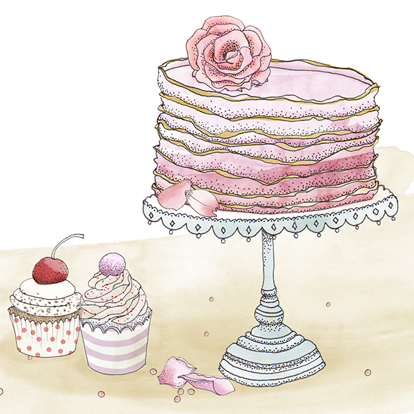 Drawing Images Of Cake : Sweet Cake Drawings on Behance