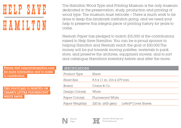 Hamilton Museum + Neenah Paper Postcard on Behance