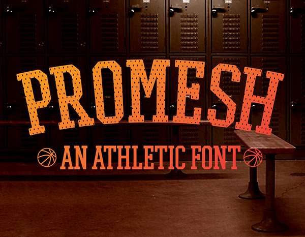 PROMESH - A Free Athletic Font on Behance