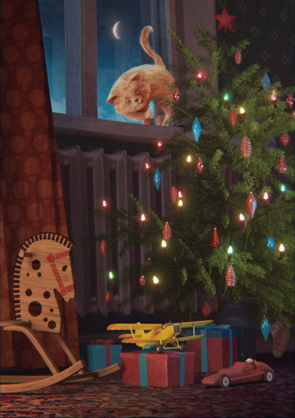 CG 3D winter cartoon Soviet 60's ussr Christmas