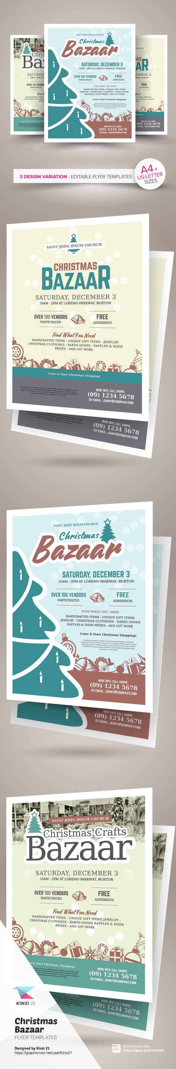 christmas bazaar flyer templates on behance christmas bazaar flyer templates are fully editable design templates created for on graphic river more info of the templates and how to get the