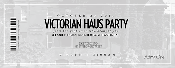 ticket design victorian haus party on behance