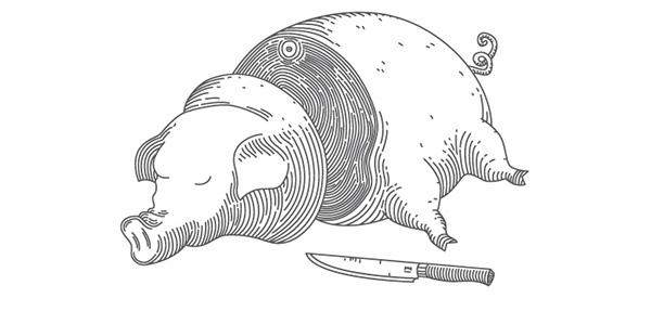 mushroom pig grape fish cake chocolate knife type book vector line novel swine Food  Cheese