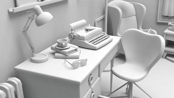 3dmodel modeling Render vintage design vray 3DSMax 