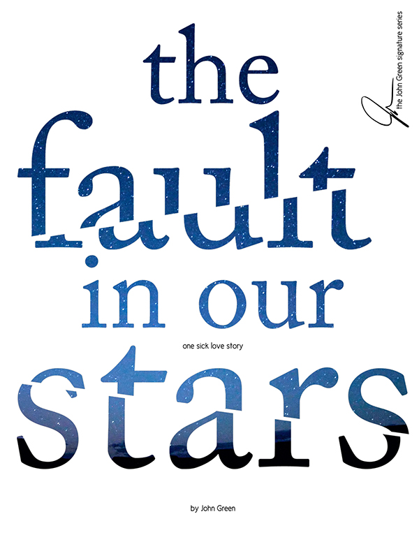 Looking For Book Cover Illustration ~ The fault in our stars book cover design imgkid