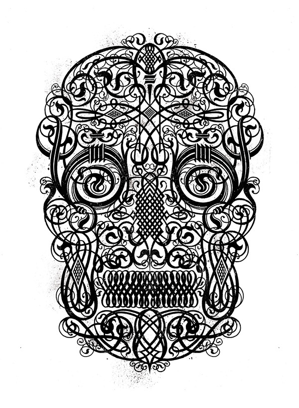 Calligraphy old skull on behance