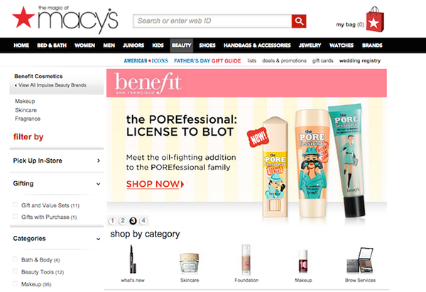benefit cosmetics web banners and ads on the art institutes portfolios