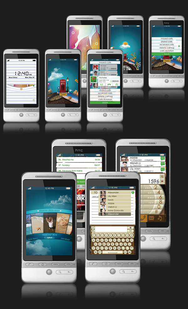android user interface mobile phone fun project earth