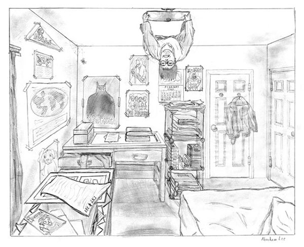bedroom drawing drawing illustration 318 3 0 project by abe lee