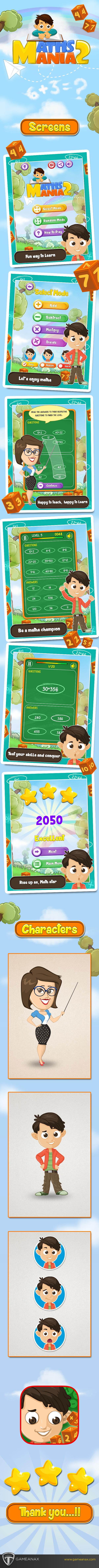 gamedesign art uidesign mobilegames maths kids characters