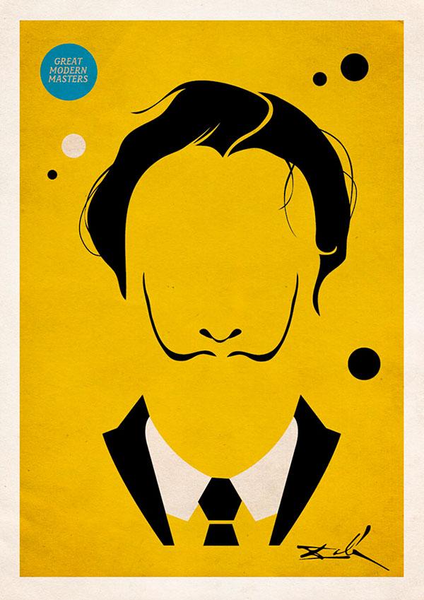 Great modern masters minimalist art posters on behance for Art post minimalisme