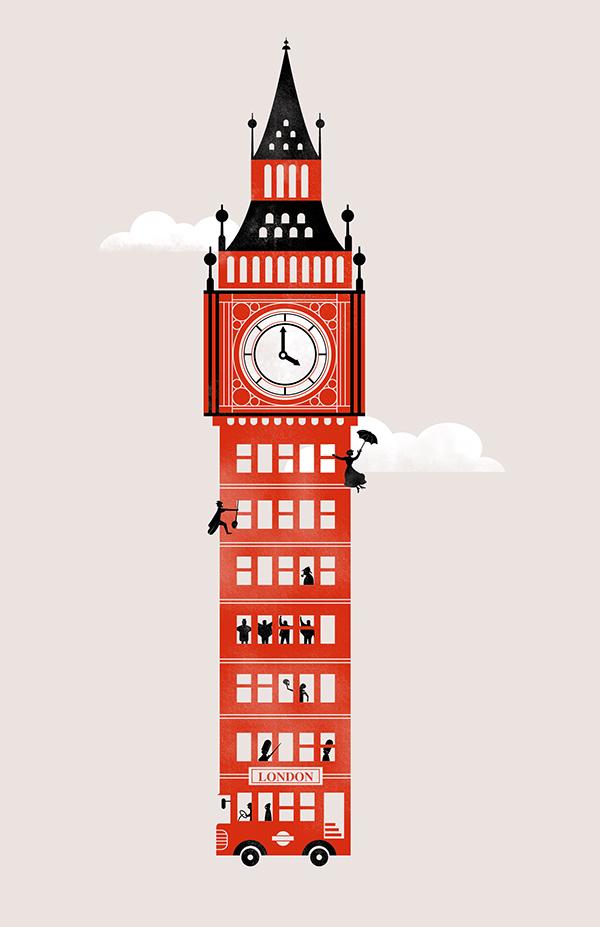 Character Design Job London : The big british bus on behance