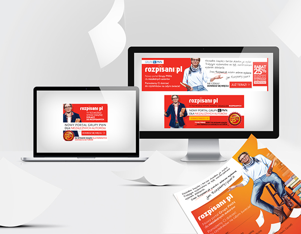 Rozpisani Selfpublishing press advertising Web Banners